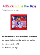 Goldilocks - punctuation