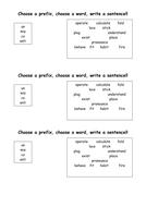Choose a prefix