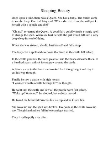 All Worksheets » Sleeping Beauty Worksheets - Free Printable ...