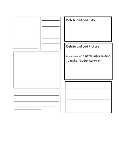 Booklet Template By Bluerose Teaching Resources Tes - Informational brochure templates