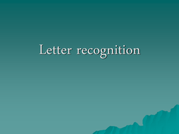 letter/grapheme recognition