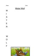 Mr Wolf Acrostic Poem (from Preston Pig)
