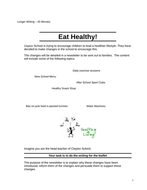 Writing a Healthy Living Newsletter