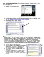 Teachers Report Assistant software - walkthrough