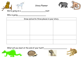 Story planner - We're Going on a........ Hunt