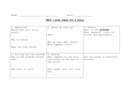 Stories - planning storyboard template.doc