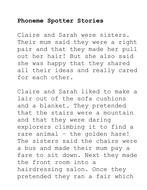 Phoneme Spotter Stories--Handouts