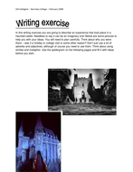 Writing exercise - haunted castle