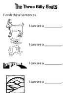 Finish the sentences The Three Billy Goats