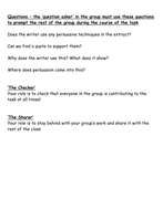 Roles for speaking and listening group work