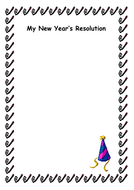 new years resolution writing template