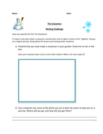 The Snowman Writing Challenge