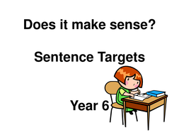 Sentence level objectives year 6 display