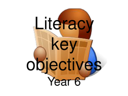 Key Literacy Objectives for 6th graders