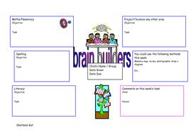 Learning log task grid