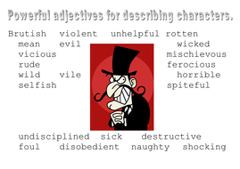 Character Adjective Help Mats/Creative Writing
