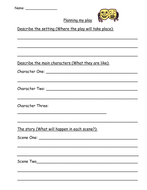 Planning a play (characters; scenes etc)