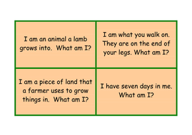 Various Spellings Question Cards