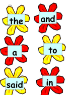 100 high-frequency words in order from letters and sounds.