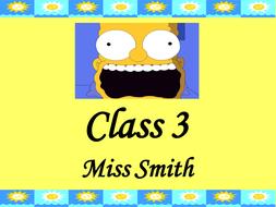 Simpsons Classroom Door Sign