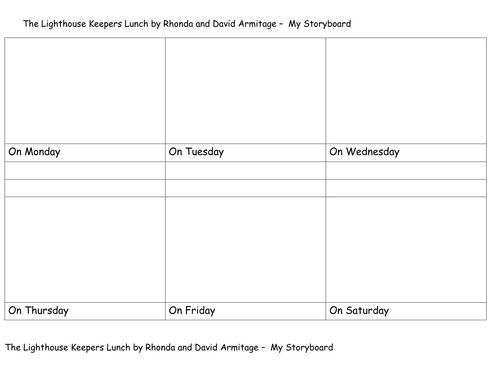 The Lighthouse Keepers Lunch Storyboard Template By Kpo11 Teaching