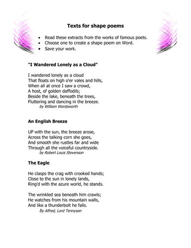 All Worksheets » Poetry Worksheets Grade 8 - Free Printable ...