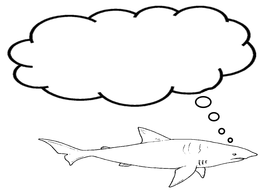 Shark thought bubble