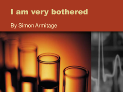 i am very bothered by Simon Armitage