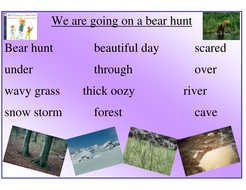 We're Going on a Bear Hunt - writing prompt