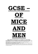 Of mice and men lesson plans and handouts