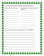 Plan a letter to Santa