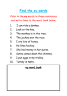 Find and Color the 'ey'  Words