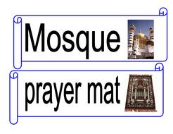 Muslim/Islam word cards