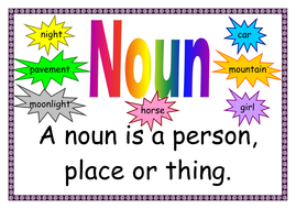 Vocabulary display - word types