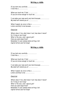 Creating Riddles (Rhymes and Creative Writing)