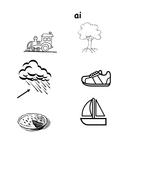 Long Vowel Phoneme Clip Art - ai; ee; oa