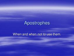 apostrophes PowerPoint