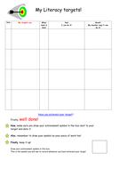 Literacy / English Self Assessment Target Sheet