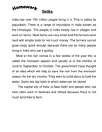 Informational Text about India