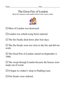 The Great Fire of London newspaper report