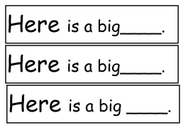 Sight Words- see and here