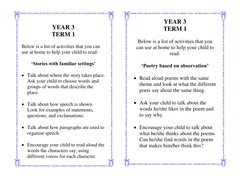 Grade 3 Home Reading Bookmarks - Various Genres
