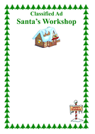 Classified Ad - Santa's Workshop