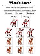 Where's Santa? Positional Language