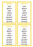 Spellings - 3D shapes