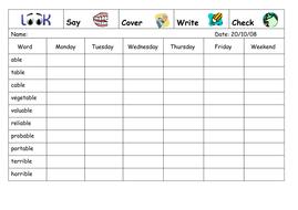 Spelling Week 7  - Nov 6th 2006.doc