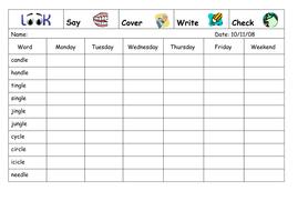 Spelling Week 9  - Nov 20th 2006.doc