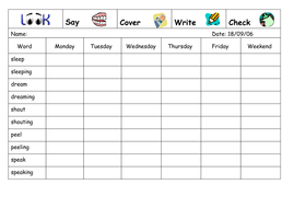 Spelling Week 2 - Sept 18th 2006.doc