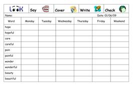 Spelling Week 23  - May 14th 2007.doc