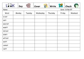Spelling Week 24  - June 11th 2007(1).doc